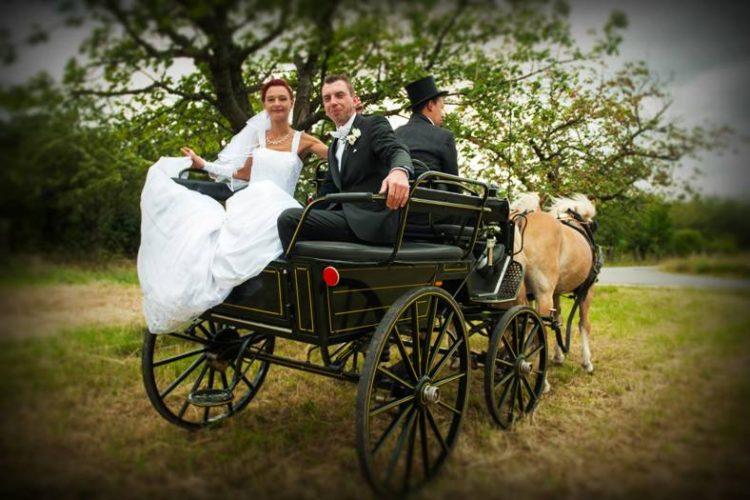 Hochzeit Brautpaar Kutsche 2